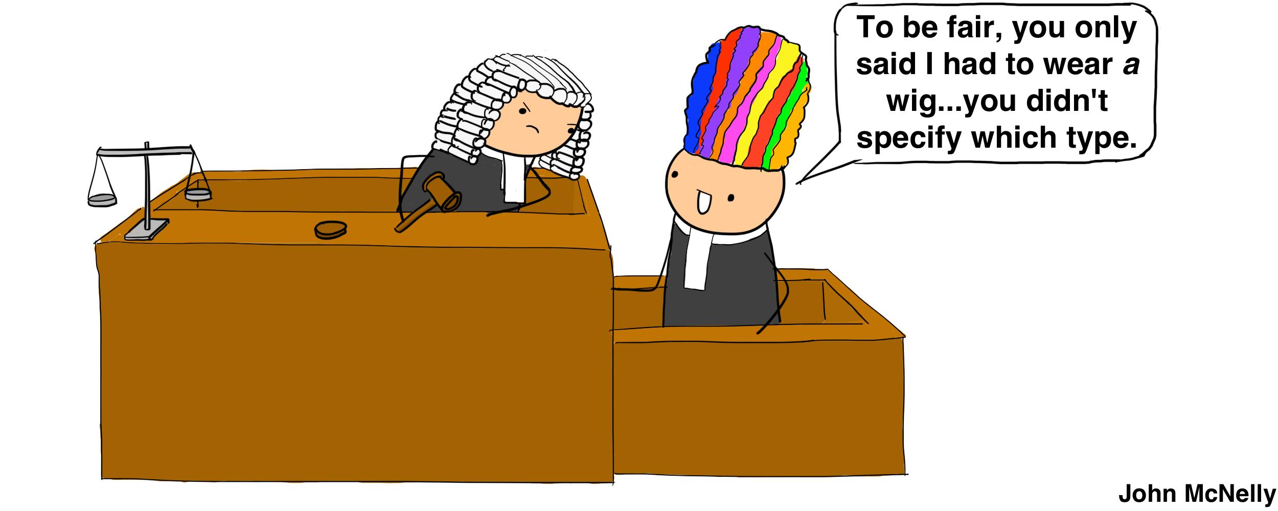 Rainbow Wig of Justice