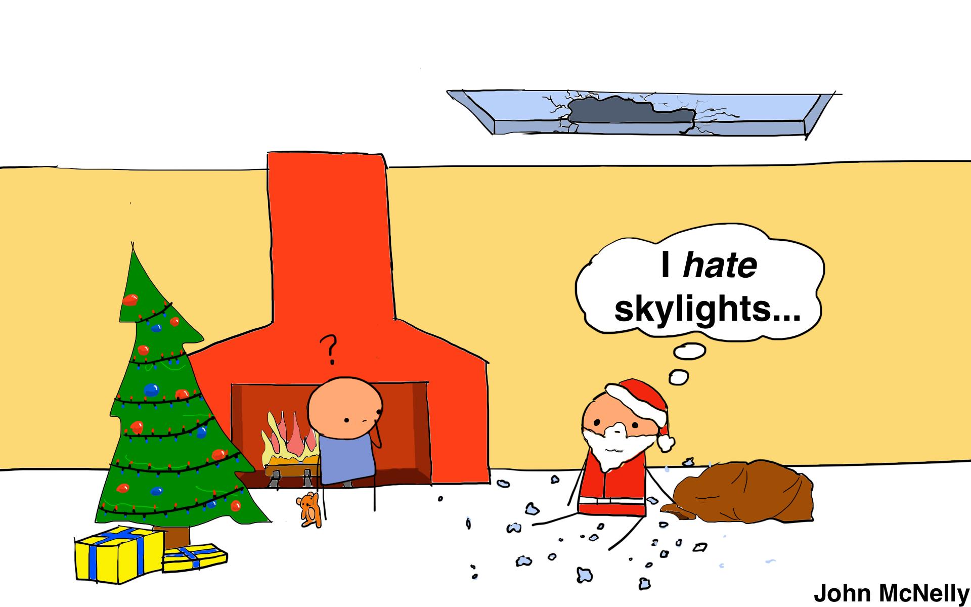Skylight Santa